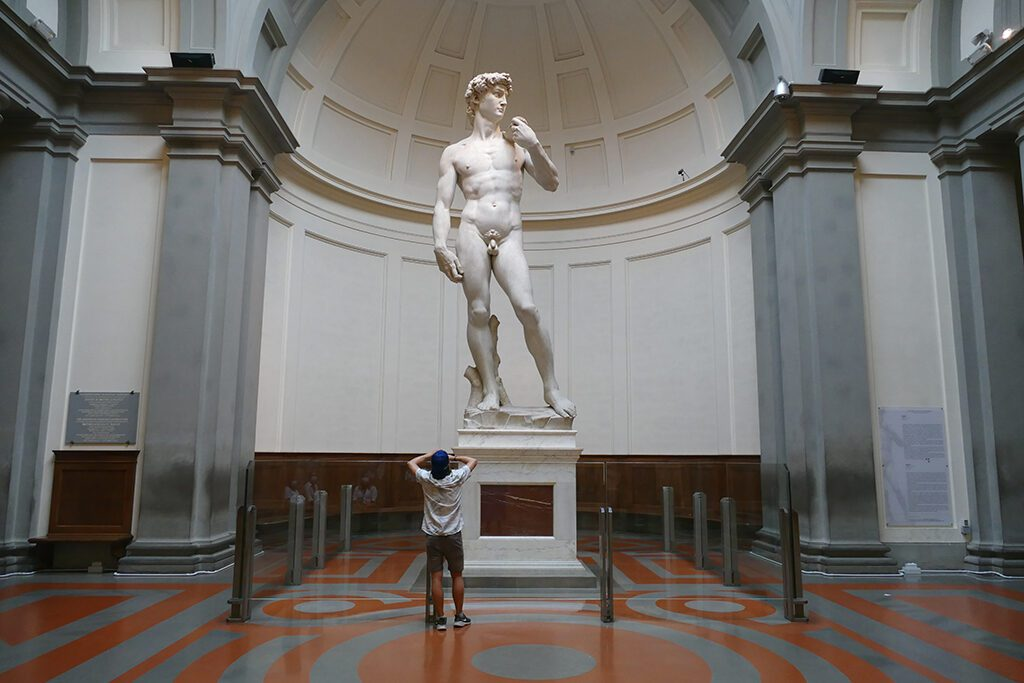 Michelangelo Buonarotti's David at the Galleria dell'Accademia in Florence - Home of the Medici, Cradle of the Renaissance