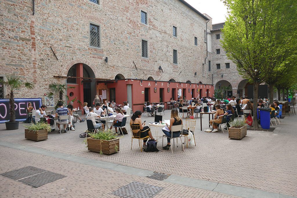 The sociable couryard of the Murate Art District in FLORENCE - Home of the Medici, Cradle of the Renaissance