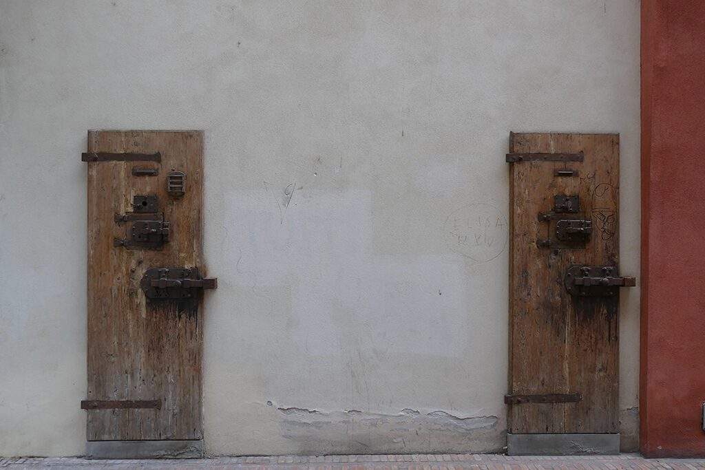 Former cell doors at the Murate Art District in FLORENCE - Home of the Medici, Cradle of the Renaissance