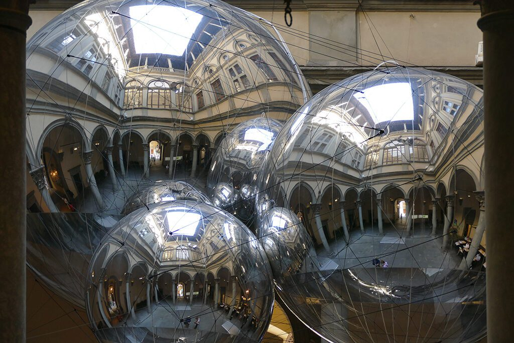 Tomas Saraceno at the Palazzo Strozzi in Florence,  Home of the Medici, Cradle of the Renaissance