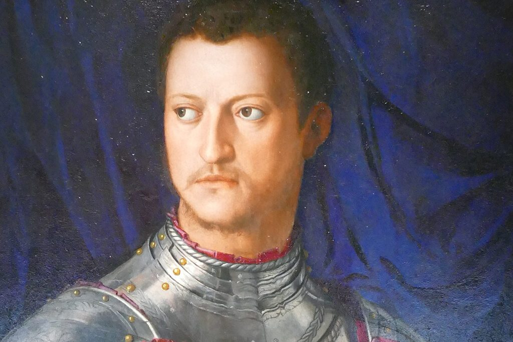 Cosimo I de Medici portrayed by one of my favorite Renaissance artists, Bronzino.