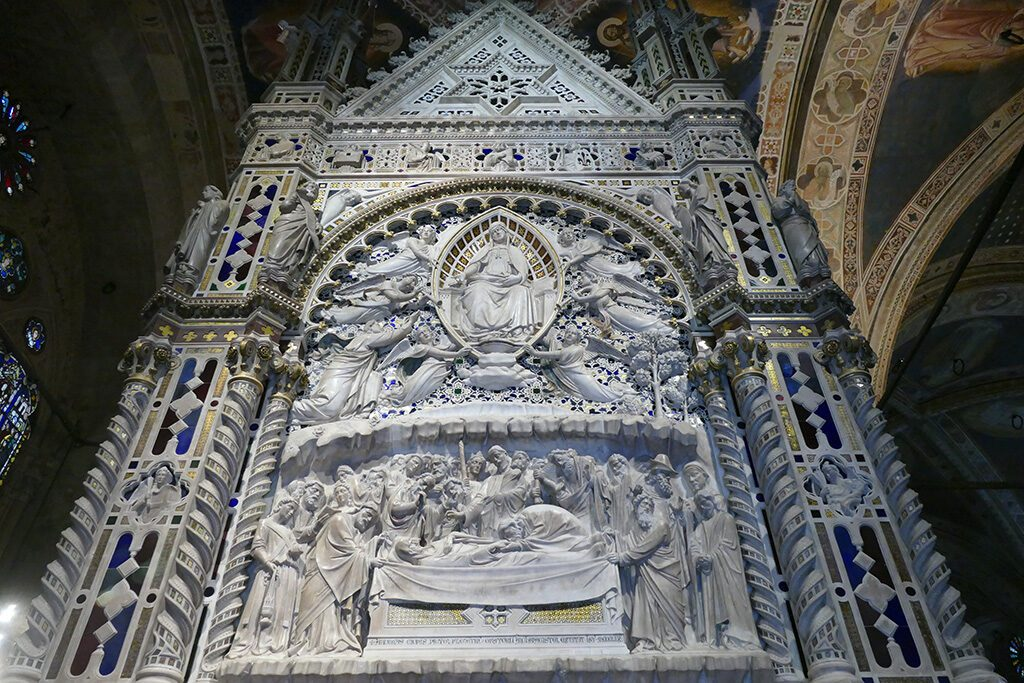 Backside of the tabernacle of the Church Orsanmichele in FLORENCE - Home of the Medici, Cradle of the Renaissance