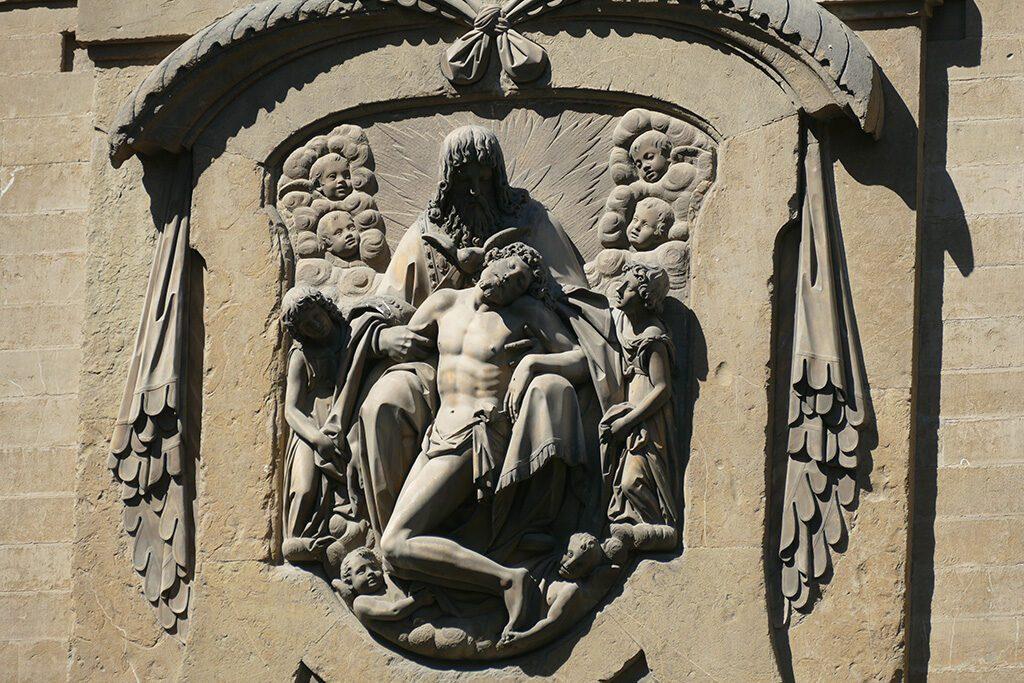 The Holy Trinity by Pietro Bernini and Giovanni Battista Caccini at the Basilica di Santa Trinita