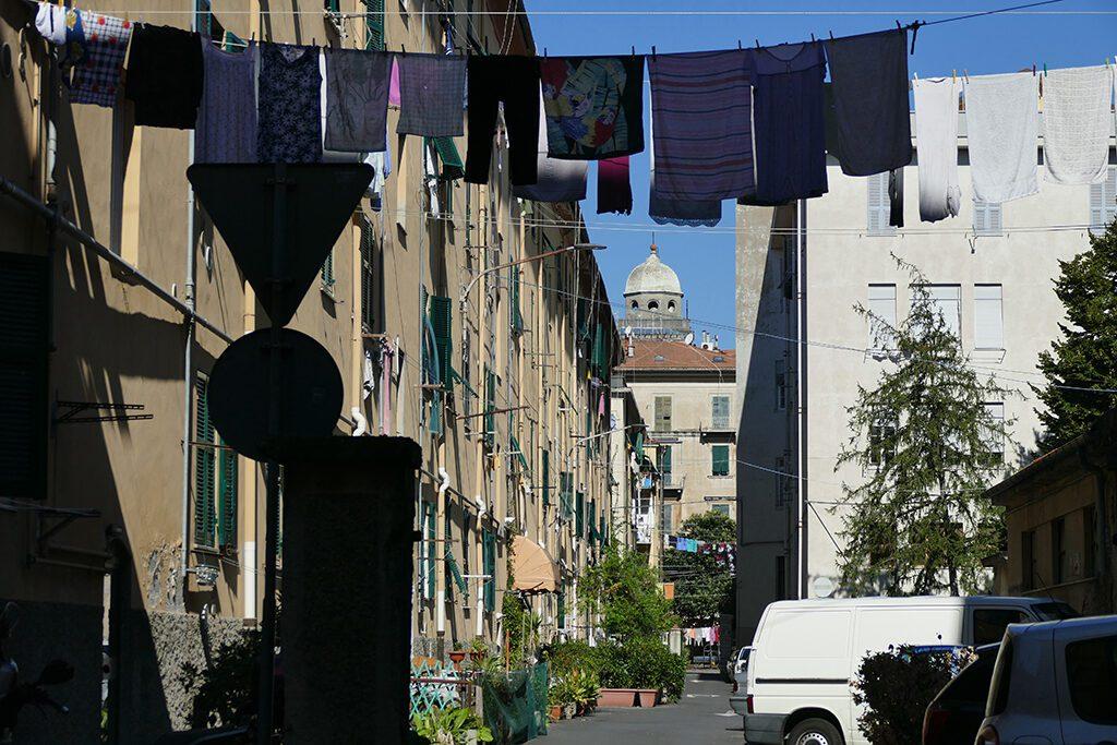 Alley with laundry in La Spezia.