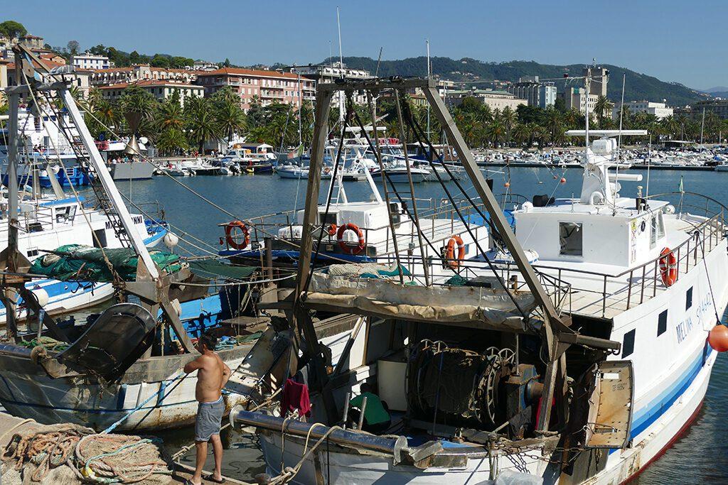 Fish trawler at the harbor of La Spezia.