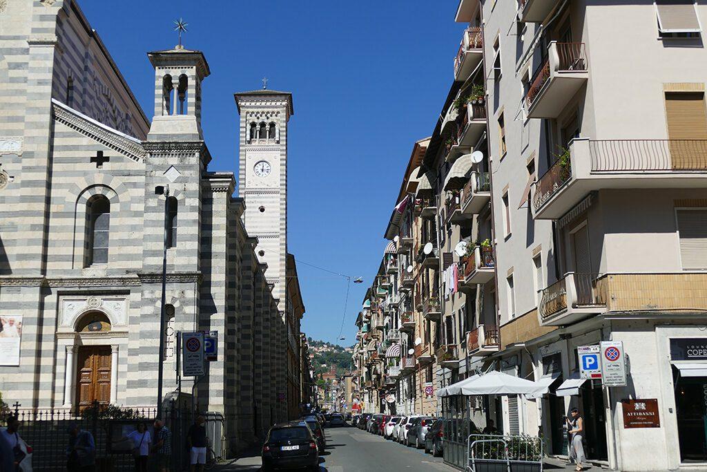 Chiesa Santa Maria della Neve at the corner of Viale Giuseppe Garibaldi and Via Napoli.