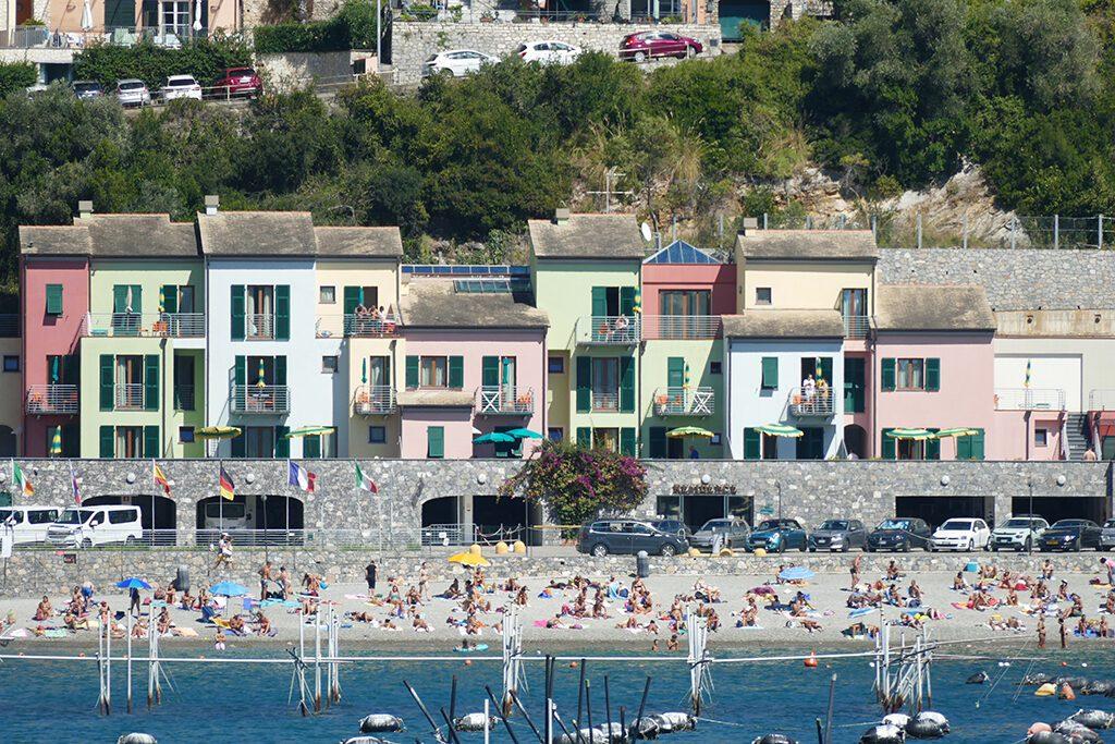 Porto Venere's narrow beach.
