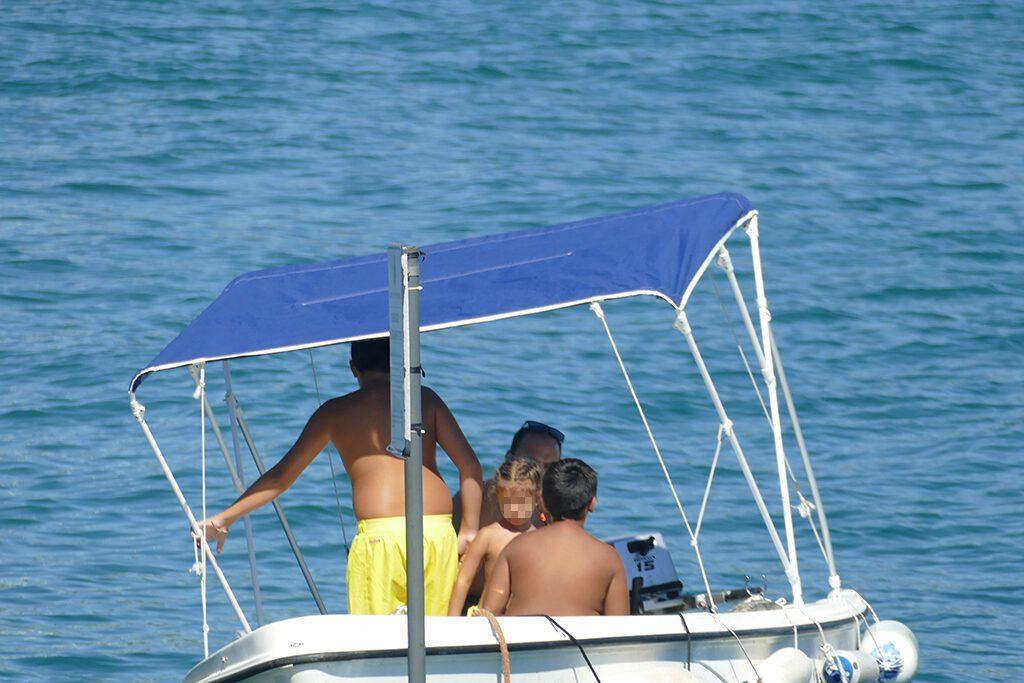 People on a boat off Porto Venere