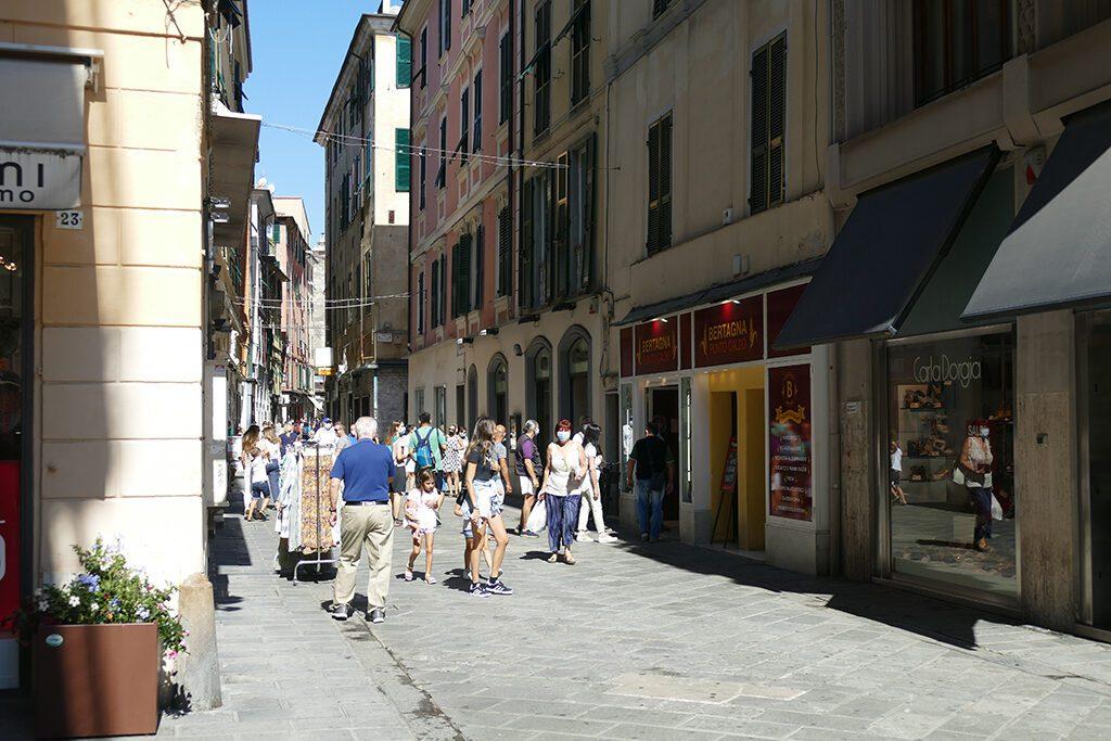 Shopping street in La Spezia