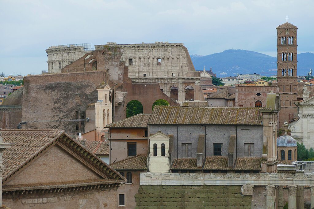 View of the Fori Imperiali in Rome