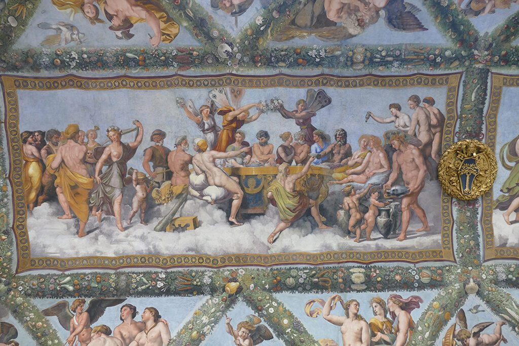 Raphael's  Marriage of Cupid and Psyche at the Villa Farnesina.