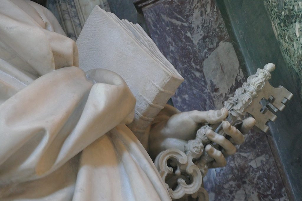 Detail of Saint Peter by Pierre Monnot