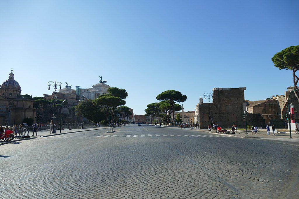Via dei Fori Imperiali in Rome.