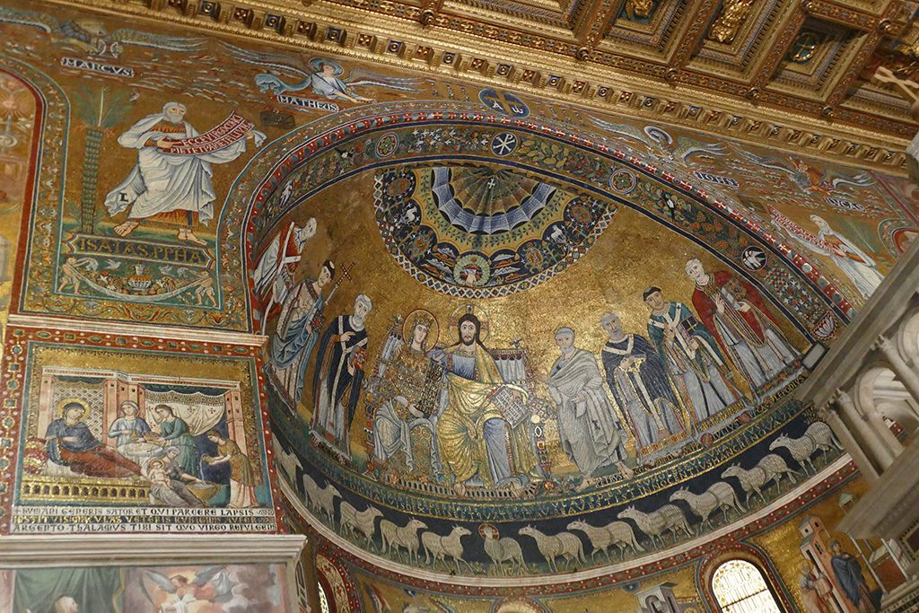 Mosaic by Cavallini at the Santa Maria in Trastevere church