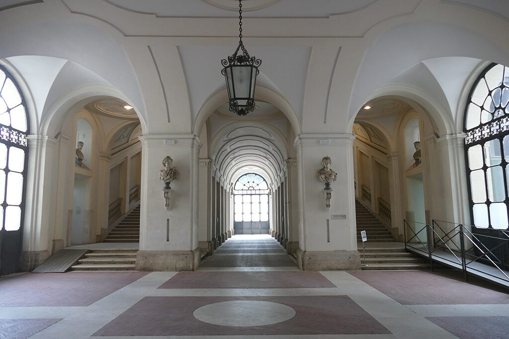 Entrance hall to the Palazzo Corsini.