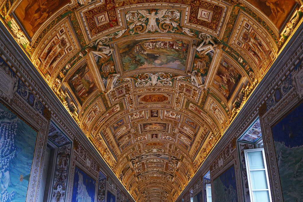 The gallery of maps at the Musei Vaticani in Rome.