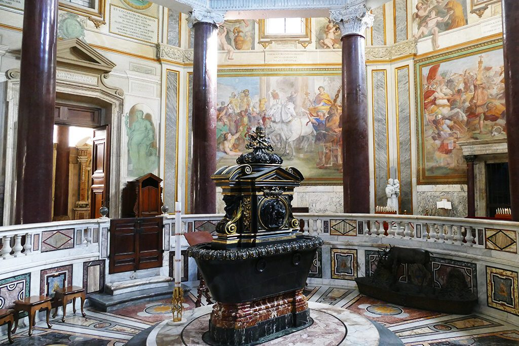 The Baptismal Font at the Baptistery.