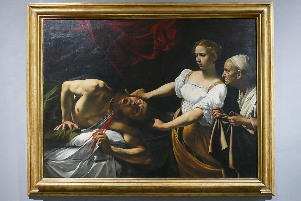 Judith and Holofernes by Michelangelo Merisi da Caravaggio at the Palazzo Barberini in Rome.
