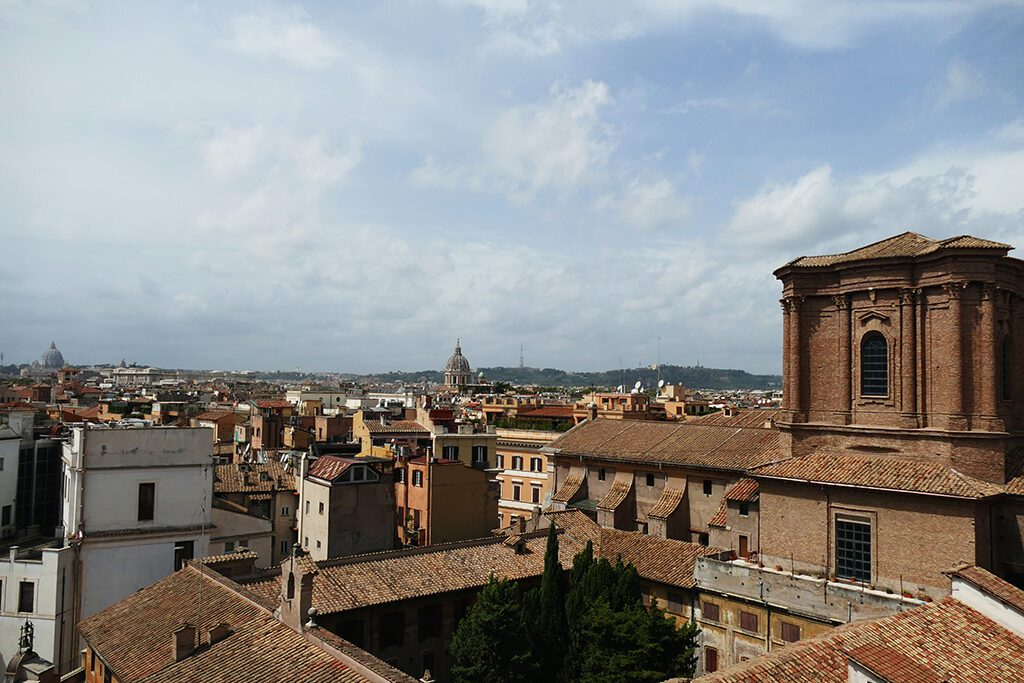 View of Rome from the rooftop of the Rinascente