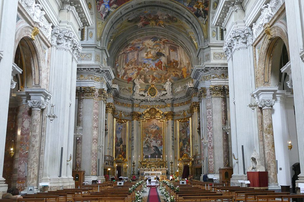 Inside the Church Saint Ignatius of Loyola.