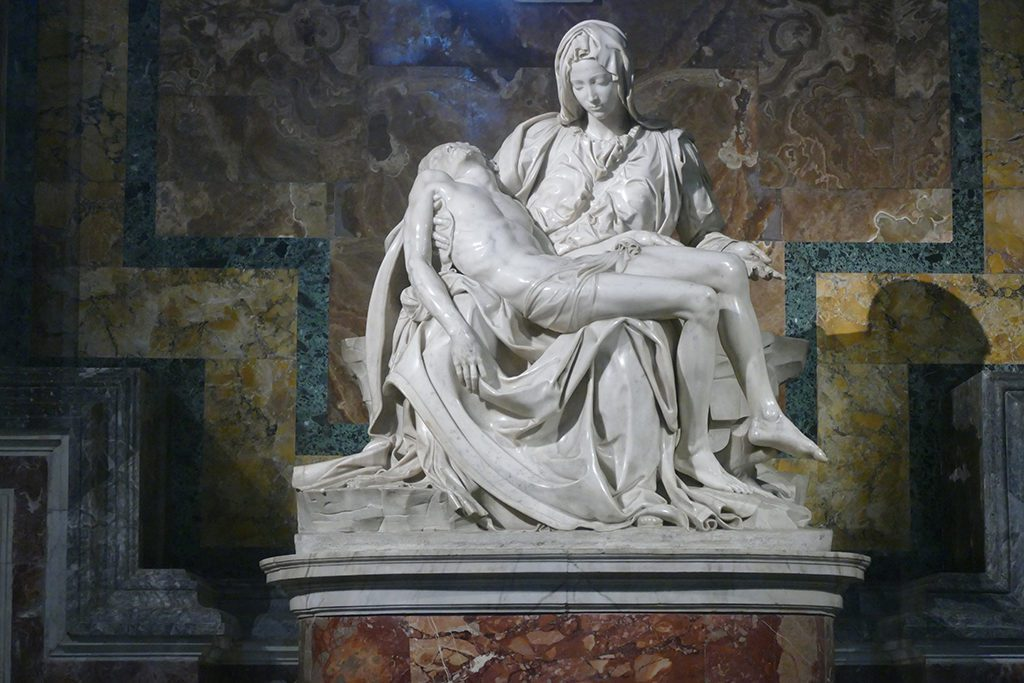 Michelangelo's Pietà at the Saint Peter's Basilica in Rome