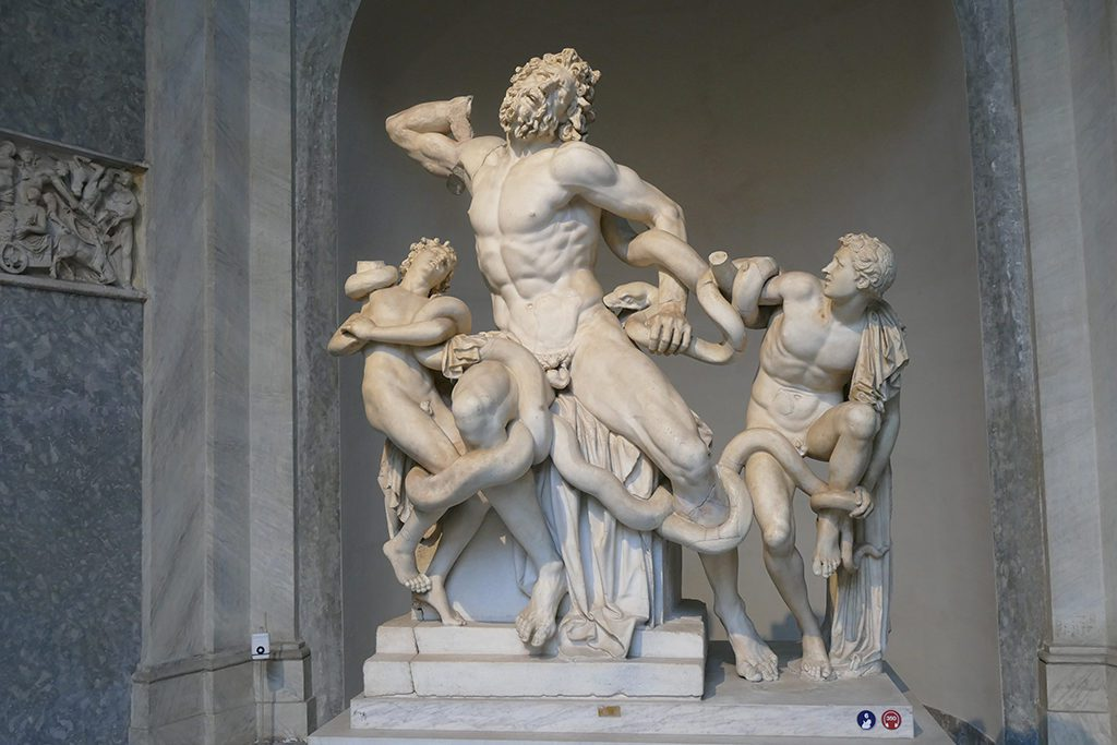The Laocoon group at the Vatican Museums