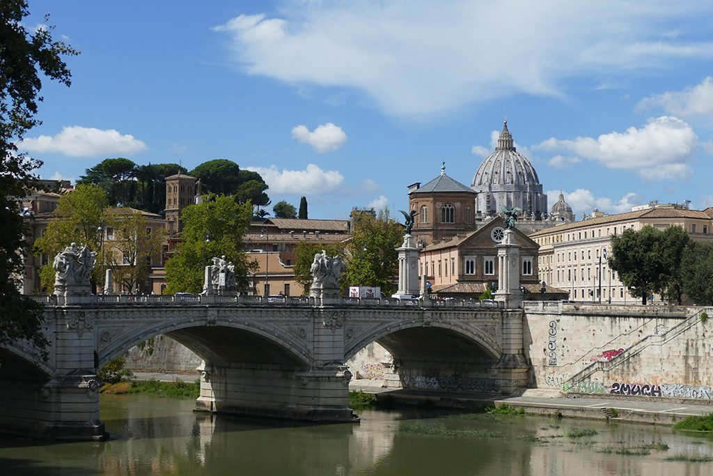 Ponte Vittorio Emanuele II in Rome - a must for first-timers.
