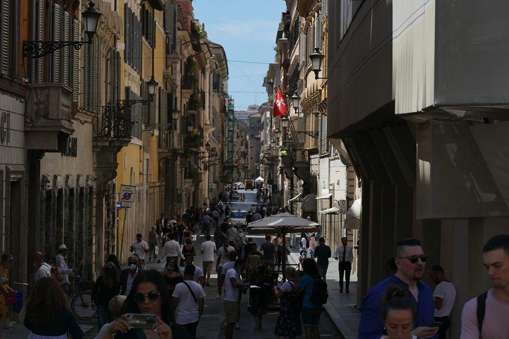 Via dei Condotti in Rome.