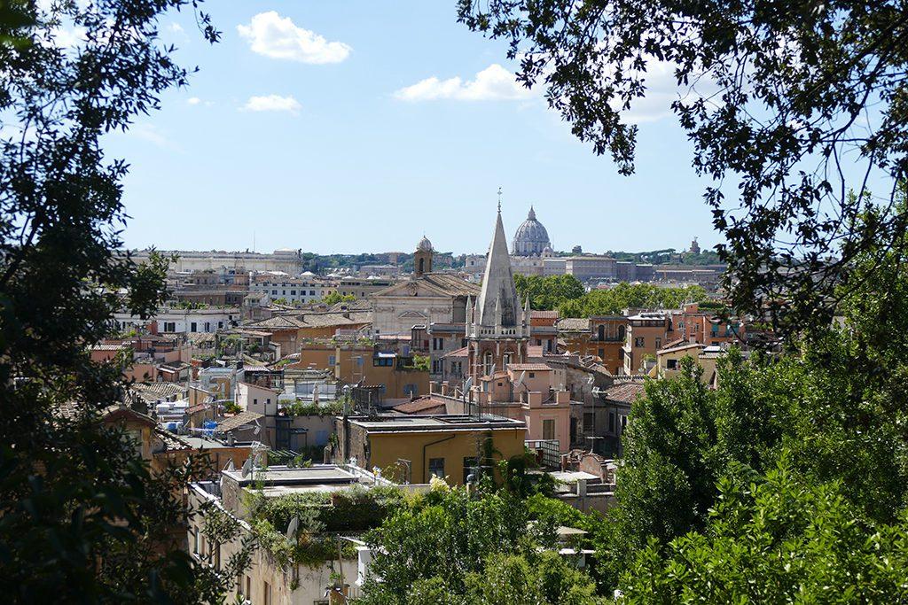 Panoramic view of Rome.