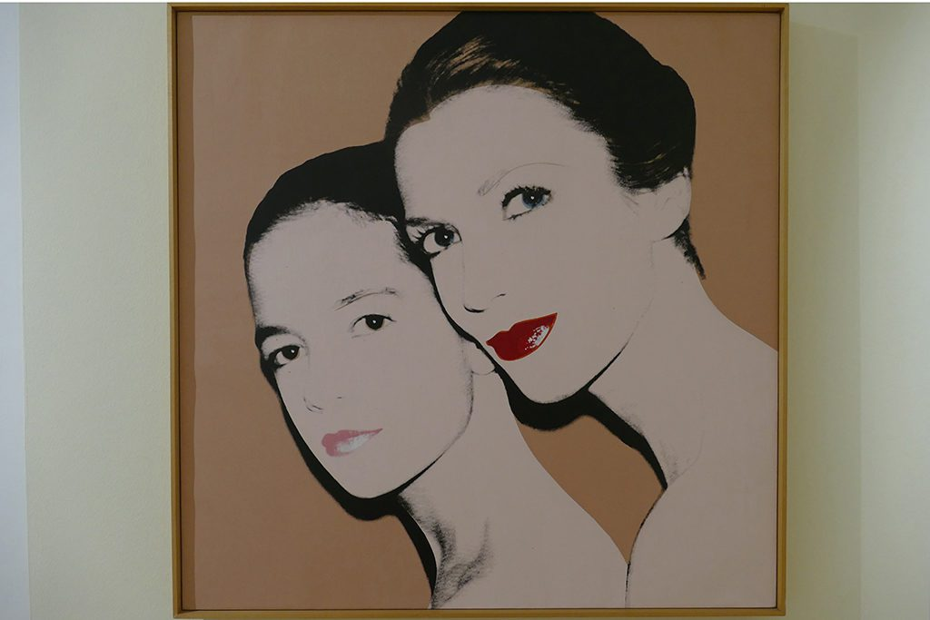 Andy Warhol portraited Mother and daughter: Tina and Lisa Bilotti