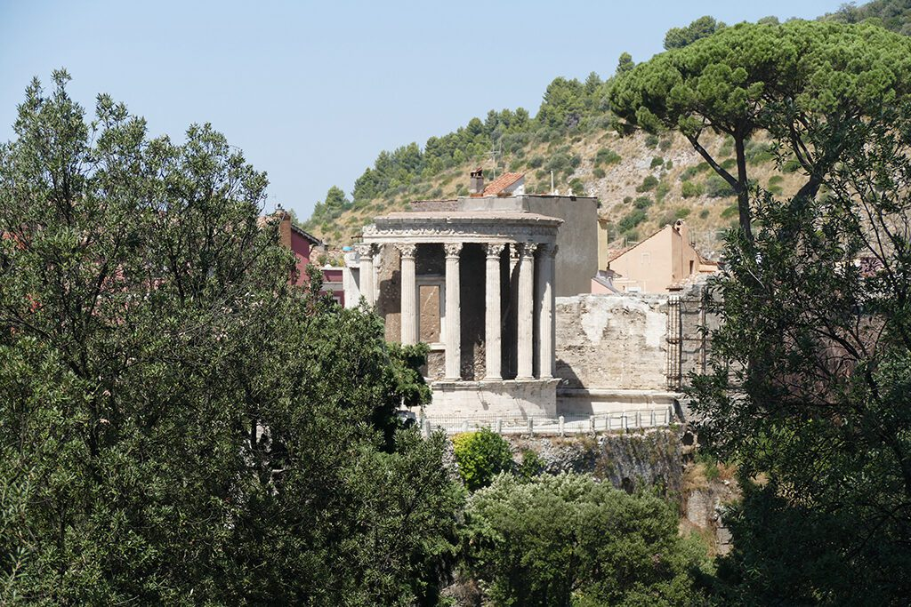 The Acropolis of the Villa Gregoriana in Tivoli, seen when visiting the Villas  on a Day Trip