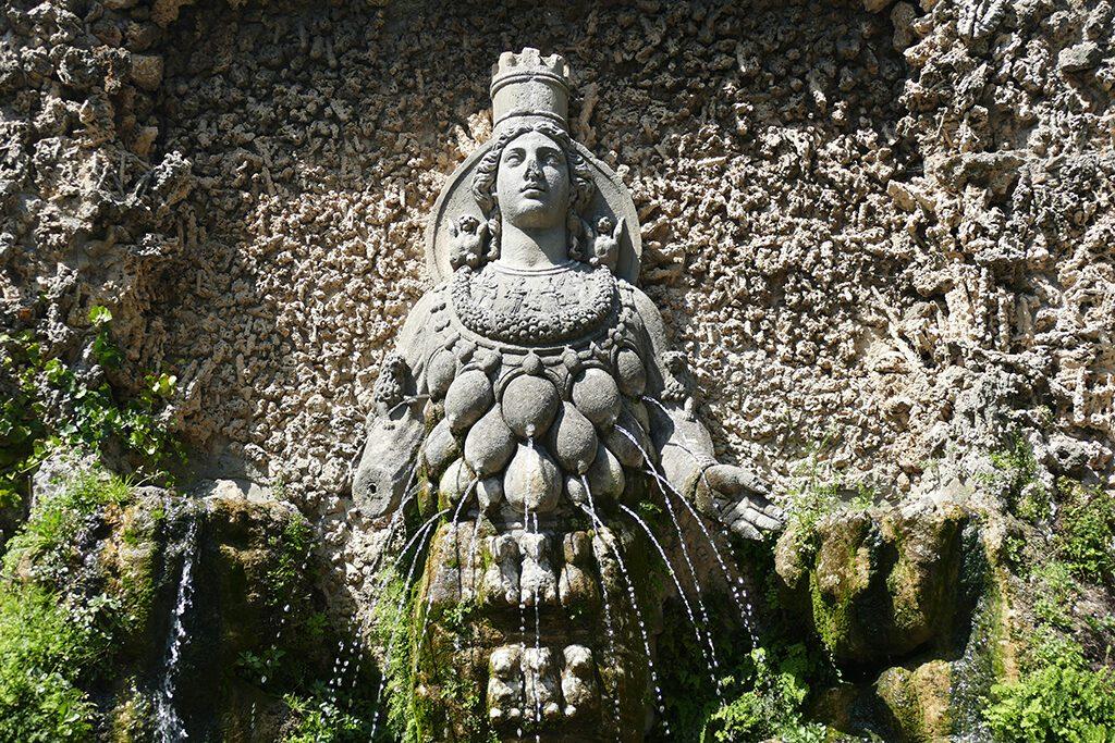Villa d'Este Tivoli Fontana di Diana Efesia or Madre Natura