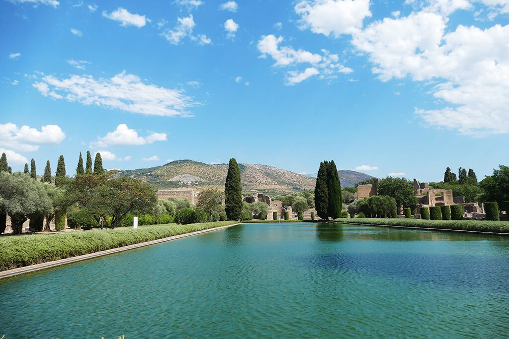 View of Tivoli from Hadrian's Villa,  seen when visiting the Villas on a Day Trip