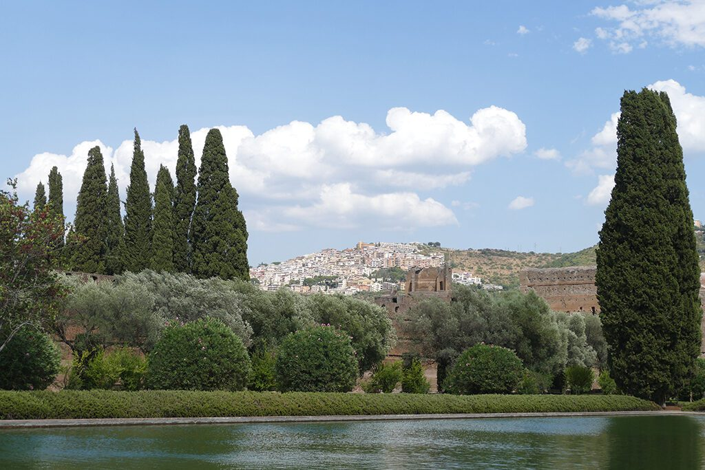 The so-called Poecile with the Roman Campagna in the backdrop, seen when visiting the Villas in Tivoli on a Day Trip