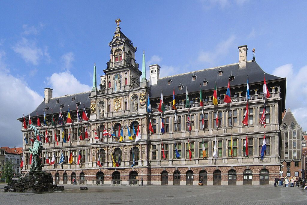 The Stadhuis, Antwerp's city hall, seen on a day trip.