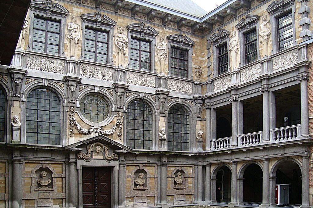 The courtyard of Rubens' former home seen on a day trip to Antwerp