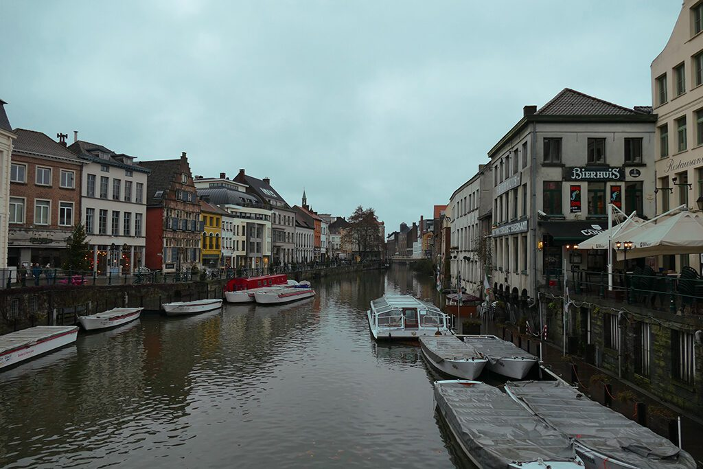 River Leie on a day trip to Antwerp, Bruges, and Ghent