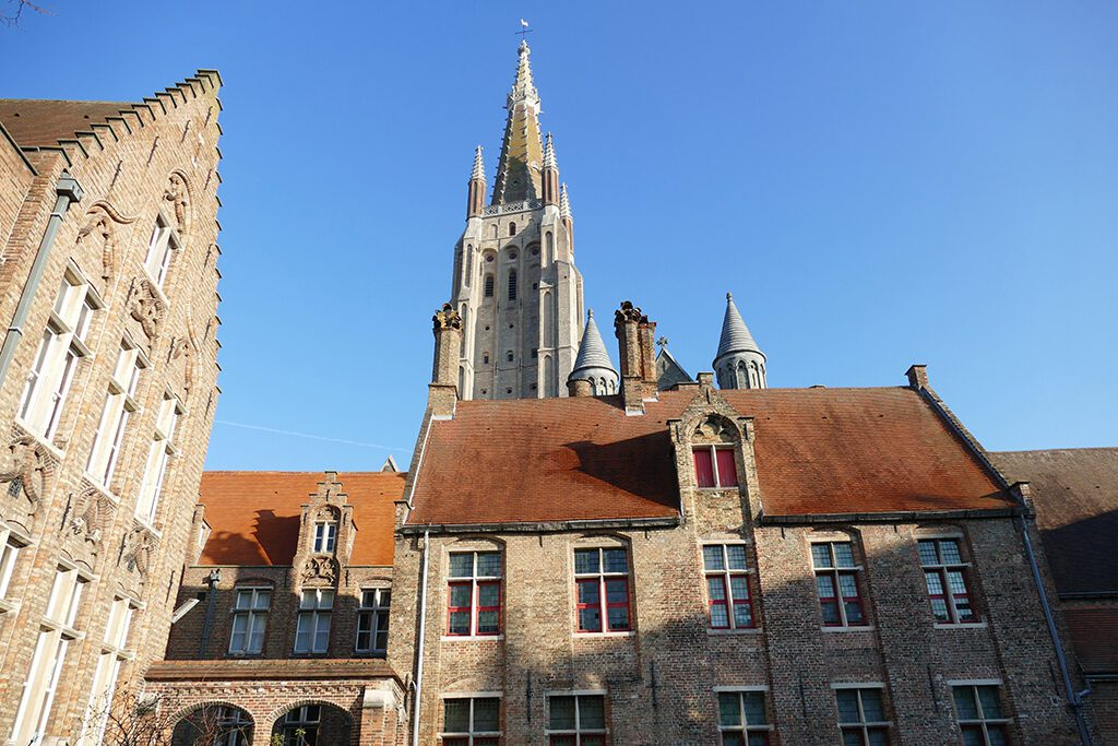Our Lady of Bruges' high tower.