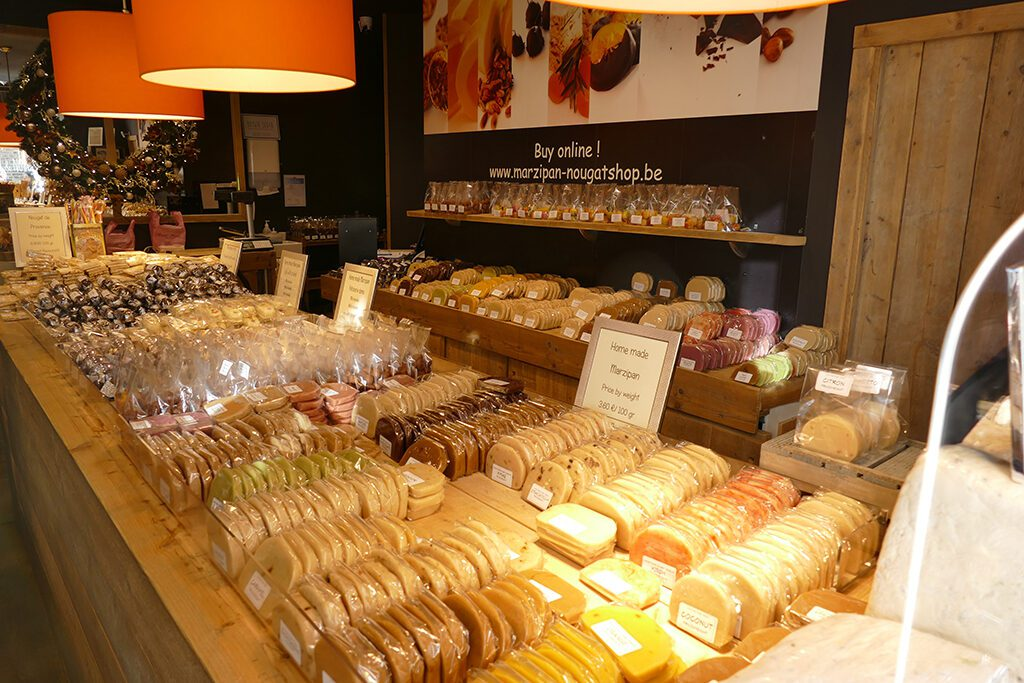 marzipan and nougat in Bruges