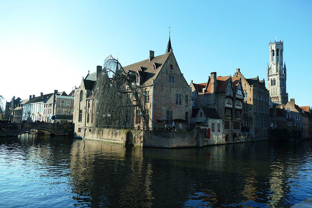 Bruges' most iconic view: The Rozenhoedkaai.