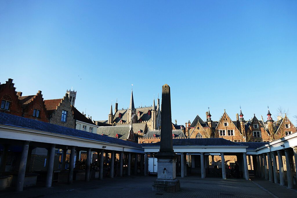 The covered fishmarket in Bruges.