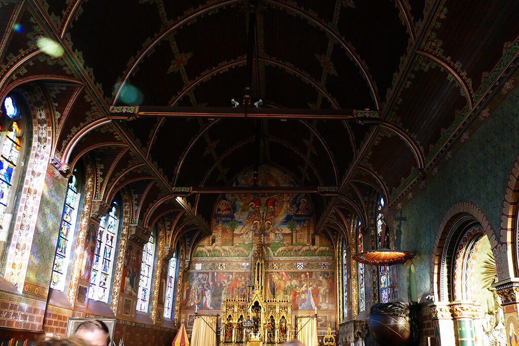 Inside the Basiliek van het Heilig Bloed in Bruges.