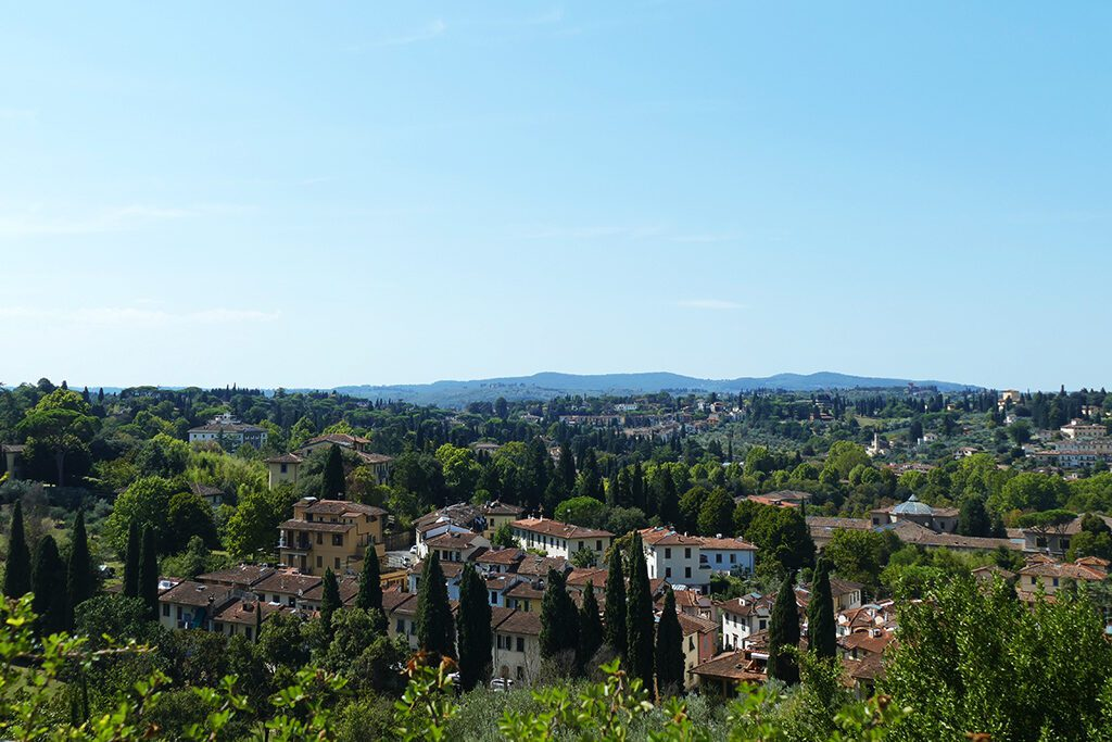 View of the Tuscan sceneries around Florence.