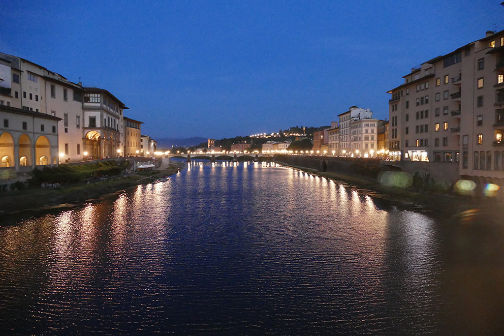River Arno by night.