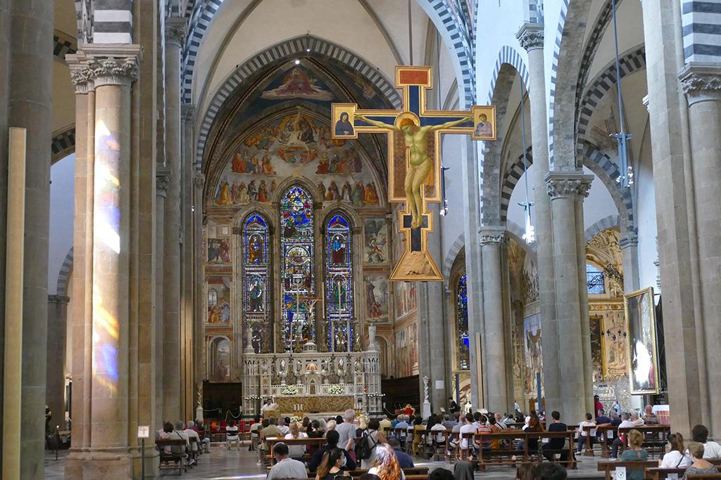 Inside the Santa Maria Novella in Florence