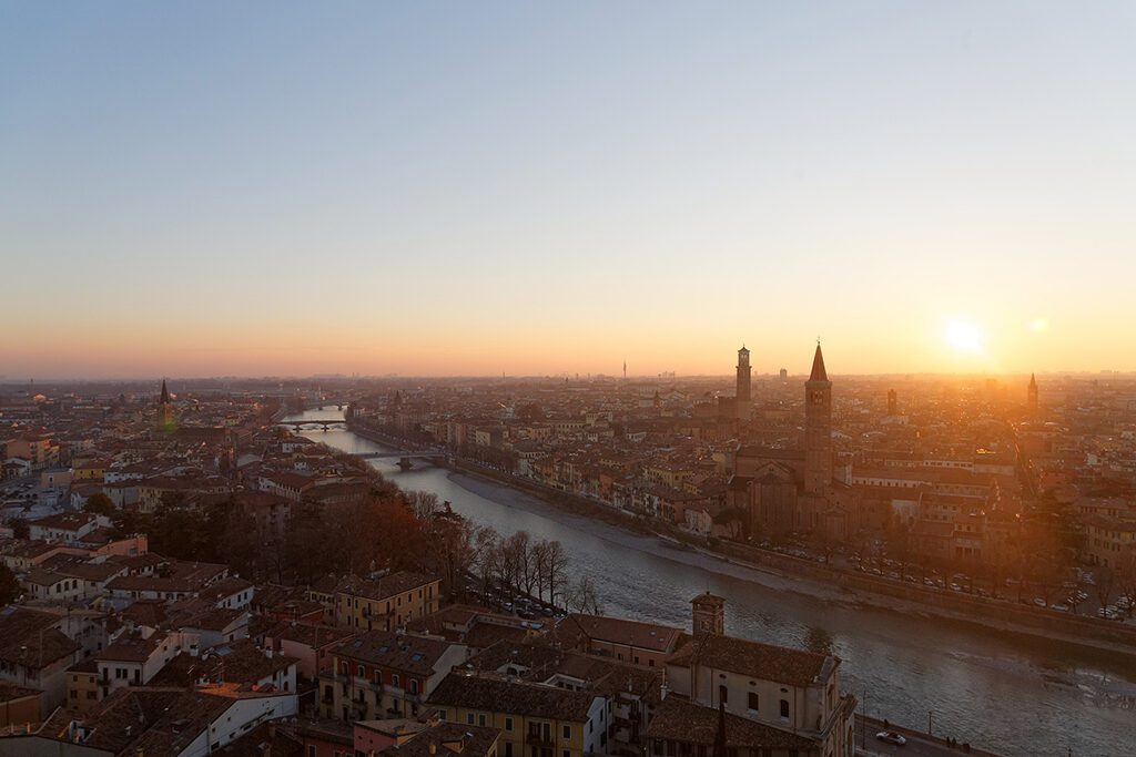 View of Verona, where I found a location of an adventurous accommodation