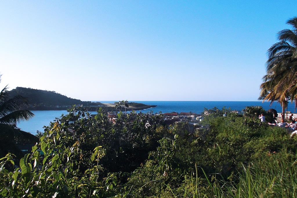 View of El Yunque and the Bahia de Miel, the Honey Bay, from the Hotel El Castillo.