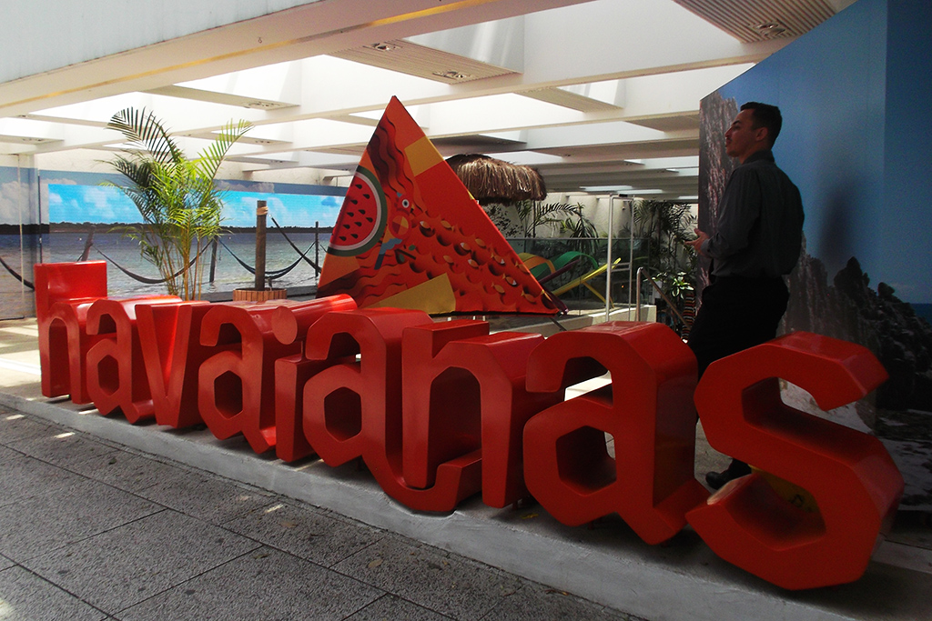 Havaianas Store in Sao Paulo in Brazil