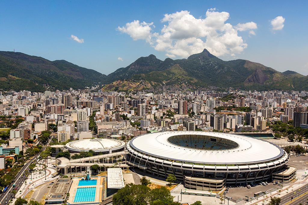 The Maracanã Stadium in Rio de Janeiro, a rough city in Latin America.