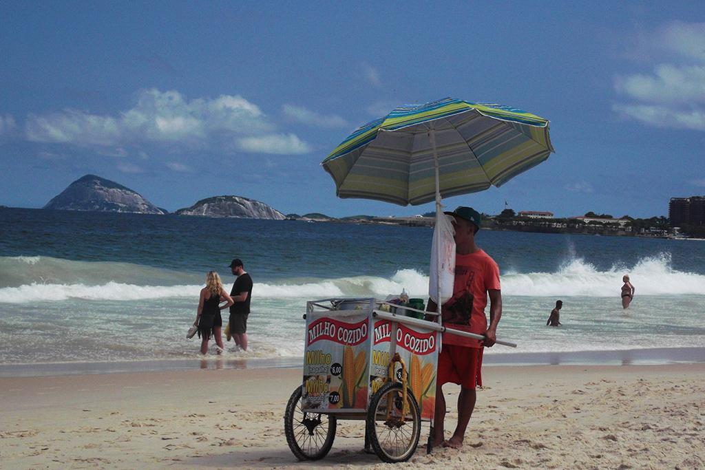 Copacabana Beach in Rio de Janeiro, a smooth place in a rough city